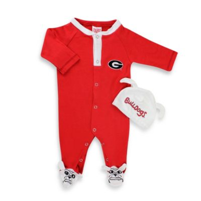 University of Georgia Mascot 1-Piece Footie w/Cap