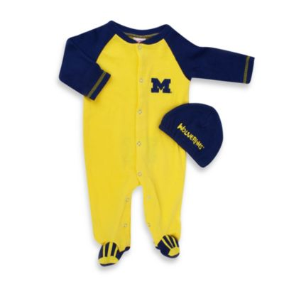 University of Michigan Mascot 1-Piece Footie w/Cap