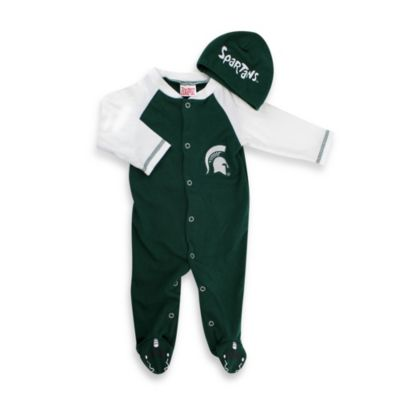 Michigan State Mascot 1-Piece Footie w/Cap