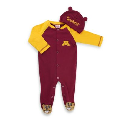 University of Minnesota Mascot 1-Piece Footie w/Cap