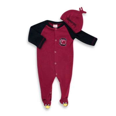 University of South Carolina Mascot 1-Piece Footie w/Cap