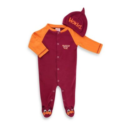 Virginia Tech Mascot 1-Piece Footie w/Cap