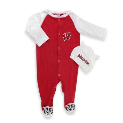 University of Wisconsin Mascot 1-Piece Footie w/Cap