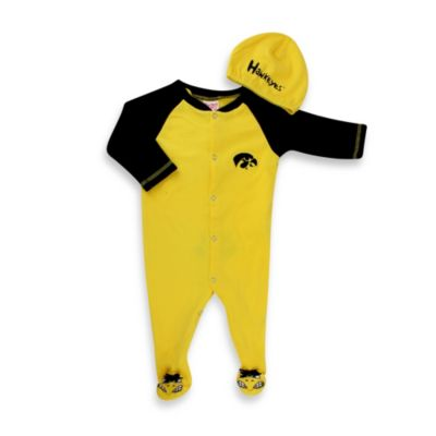 University of Iowa Mascot 1-Piece Footie w/Cap