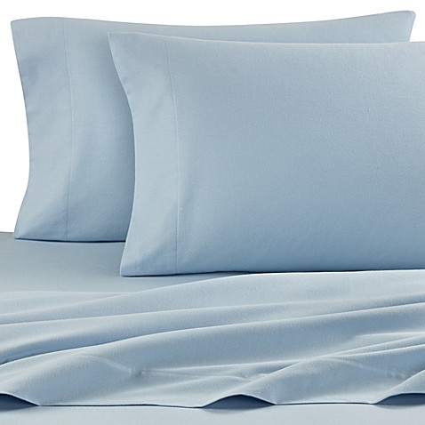 The Seasons Collection® Twin Flannel Sheet Set in Light Blue