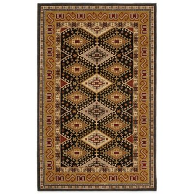 Karastan Crossroads Addison 5-Foot 3-Inch x 8-Foot 3-Inch Rug in Black