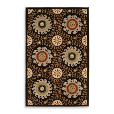 Karastan® Crossroads Davina Rug in Black