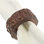 Natural Wood Bark Napkin Ring