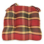 Brentwood Originals Woven Waterfall Chair Pad in Rustic Plaid
