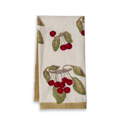 Couleur Nature Cherry Red/Green Tea Towels (Set of 3)