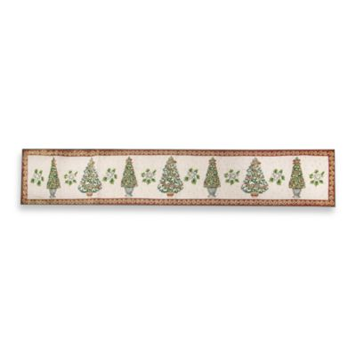 Christmas Topiaries 72-Inch Table Runner