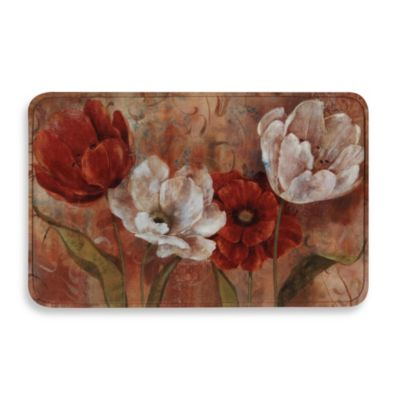 Calm Chef Anti-Fatigue Kitchen Mat in Tulips