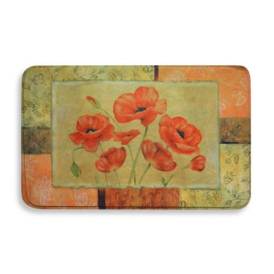 Calm Chef 19.6-Inch x 31.5-Inch Anti-Fatigue Kitchen Mat in Jacobean Poppy
