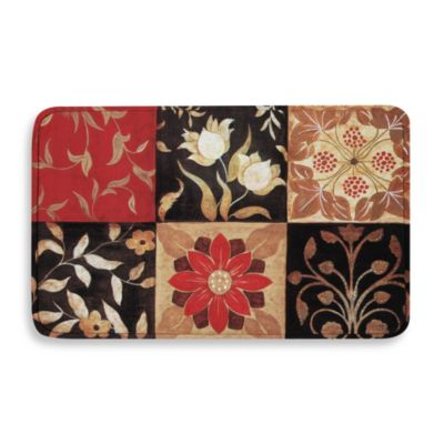 Calm Chef 19.5-Inch x 31.5-Inch Anti-Fatigue Kitchen Mat in Red Medallion