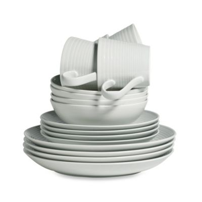 Gordon Ramsay by Royal Doulton® Maze 16-Piece Dinnerware Set in Grey