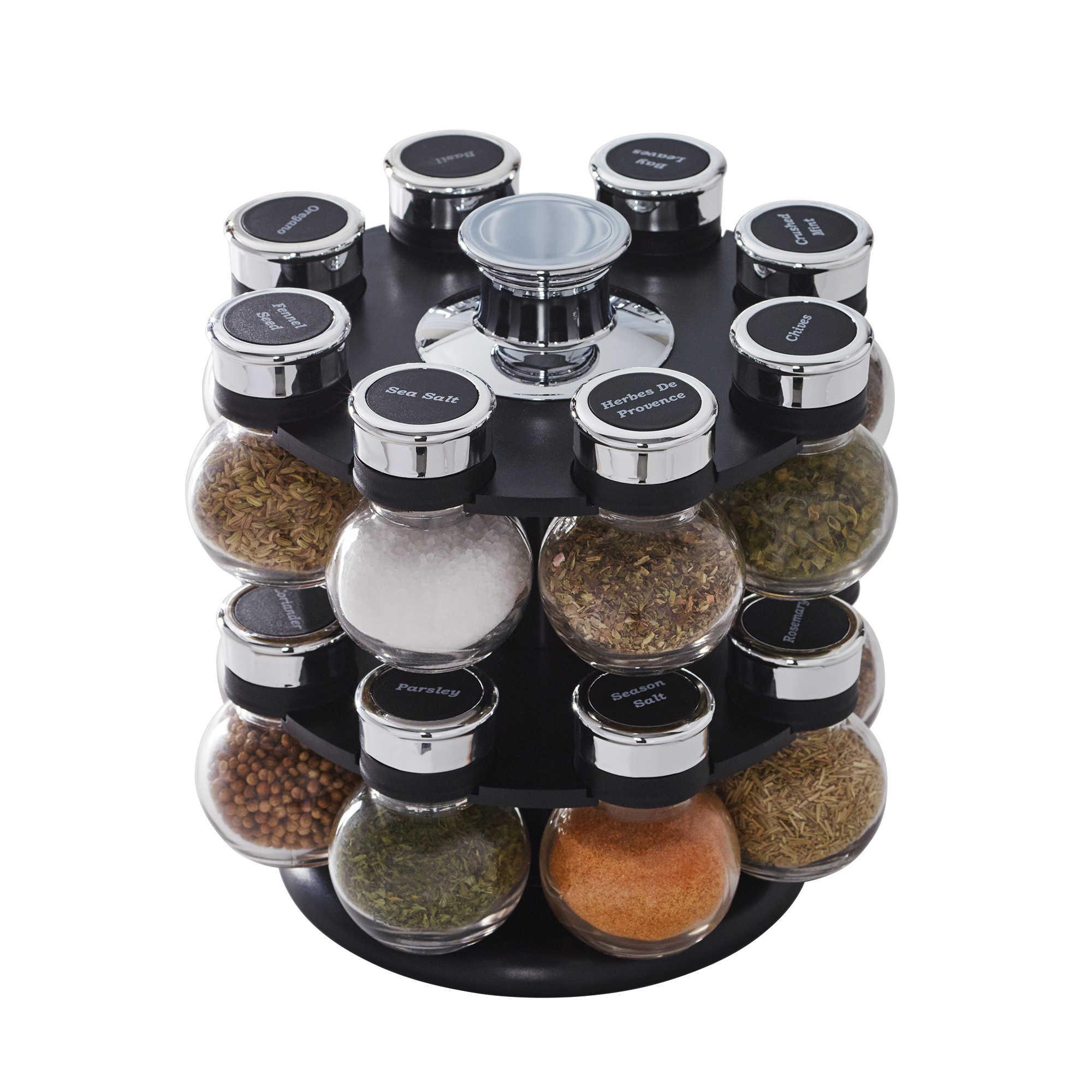 12 Jars Revolving Spice Rack