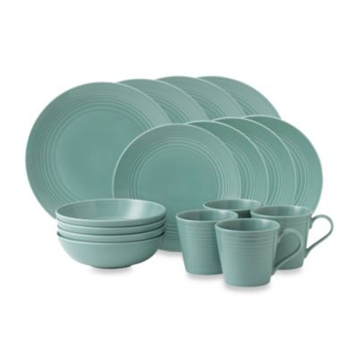 Gordon Ramsay by Royal Doulton® Maze 16-Piece Dinnerware Set in Teal