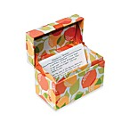 Kitchen Cucina Recipe Box in Citrus