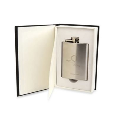 Kikkerland® Chemistry 101 Book Flask