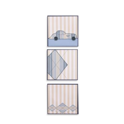 Petit Tresor Luca 3-Piece Embellished Canvas Art Set