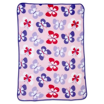 Carter's® Coral Fleece Butterfly Toddler Blanket