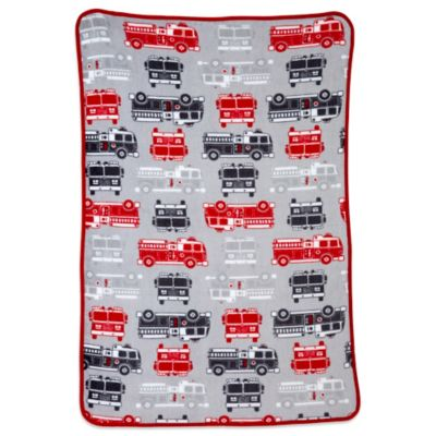 Carter's® Coral Fleece Fire Truck Toddler Blanket