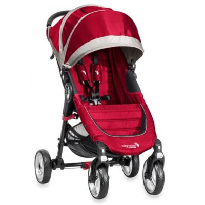 Full Size Strollers > Baby Jogger® City Mini Single 4 Wheel Stroller in Crimson/Grey
