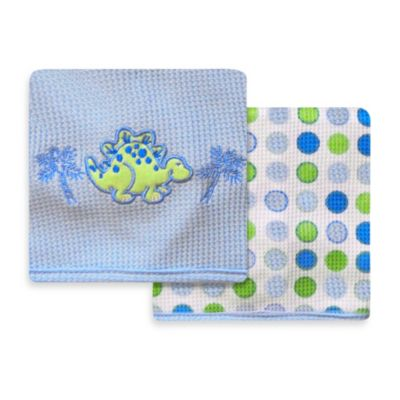 Spasilk® Dinosaur 2-Pack Thermal Receiving Blanket