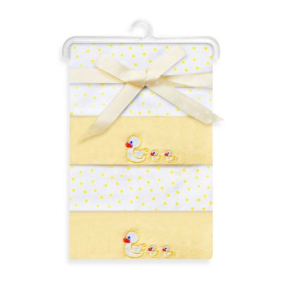 Spasilk® Duck Flannel Receiving Blanket (4-Pack)
