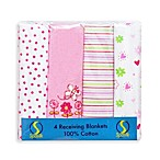 Spasilk® Flower Flannel Receiving Blanket (4-Pack)