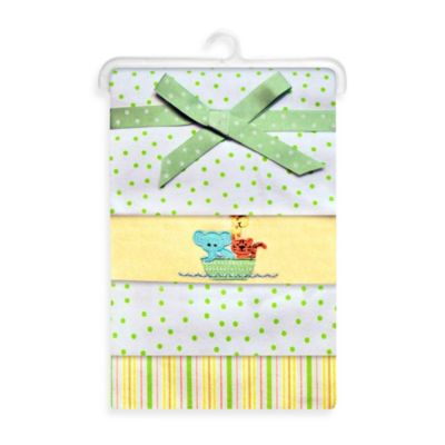 Spasilk® Noah's Ark Flannel Receiving Blanket (4-Pack)