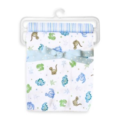 Spasilk® Dino 2-Pack Swaddle Blanket in Blue