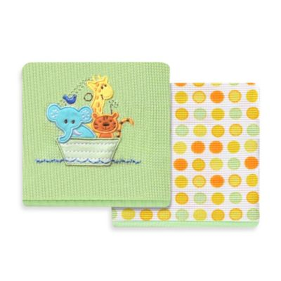 Spasilk® Noah's Ark 2-Pack Thermal Receiving Blanket
