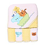 Spasilk™ Ark Hooded Towel and 4-Pack Washcloth Set in Yellow