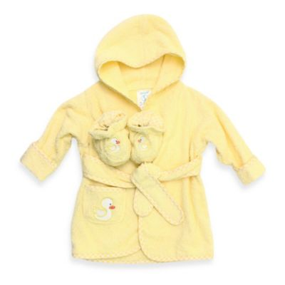 Spasilk® Size 0-9 Months Duck Bathrobe With Booties