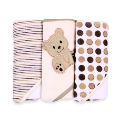 Spasilk® Hooded Towels 3-Pack in Ivory Bear