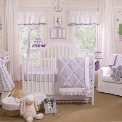Petit Tresor Papillon 4-Piece Crib Bedding Set