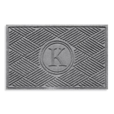 "Weather Guard™ Diamonds Monogrammed ""K"" 2-Foot x 3-Foot Doormat"