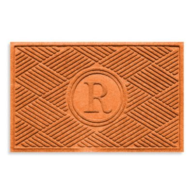 "Weather Guard™ Diamonds Monogrammed ""R"" 2-Foot x 3-Foot Doormat"