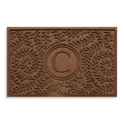 "Weather Guard™ Boxwood Monogrammed ""C"" 2-Foot x 3-Foot Doormat"