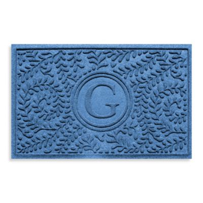 "Weather Guard™ Boxwood Monogrammed ""G"" 2-Foot x 3-Foot Doormat"