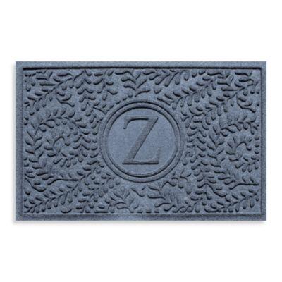 "Weather Guard™ Boxwood Monogrammed ""Z"" 23-Inch x 35-Inch Door Mat in Bluestone"
