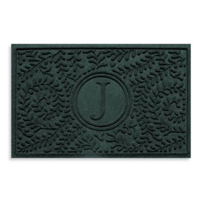 "Weather Guard™ Boxwood Monogrammed ""J"" 2-Foot x 3-Foot Doormat"