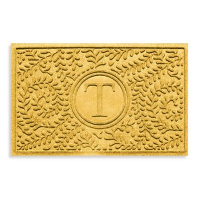"Weather Guard™ Boxwood Monogrammed ""T"" 2-Foot x 3-Foot Doormat"