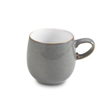 Denby Jet Grey 10 1/2-Ounce Small Curved Mug