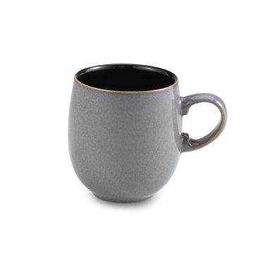 Denby Jet Grey Large Curved 14-Ounce Mug