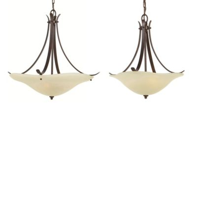 Feiss® 23 1/4-Inch Morningside 3-Light Uplight Chandelier