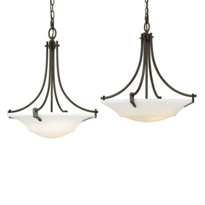 Feiss® Barrington 21-Inch 3-Light Uplight Chandelier in Oil Rubbed Bronze