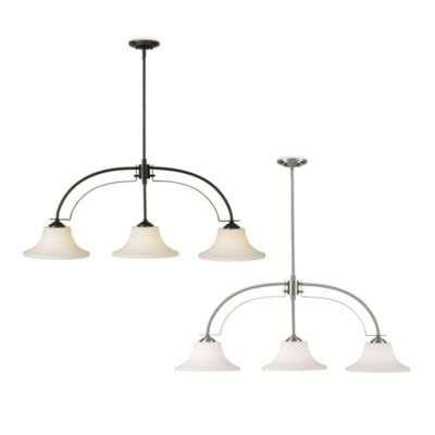 Feiss® Barrington Three-Light Billiard Chandelier in Oil Rubbed Bronze