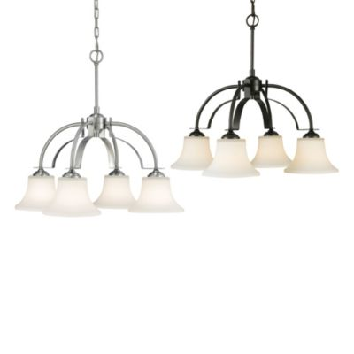Feiss® Barrington 4-Light Kitchen Chandelier in Brushed Steel